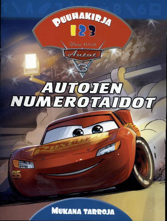 Walt Disney Puuhakirja Autojen Numerotaidot (Autot 3)