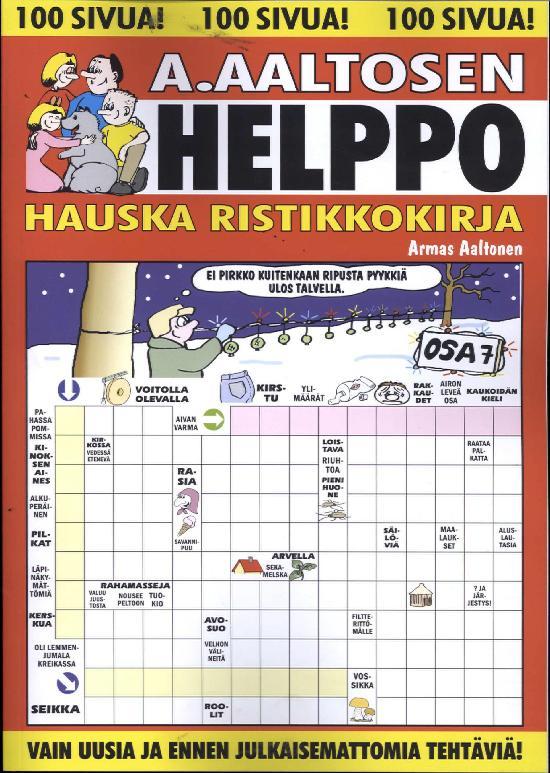 A.Aaltosen Helppo & Hauska Ristikkokirja Osa 7 2018
