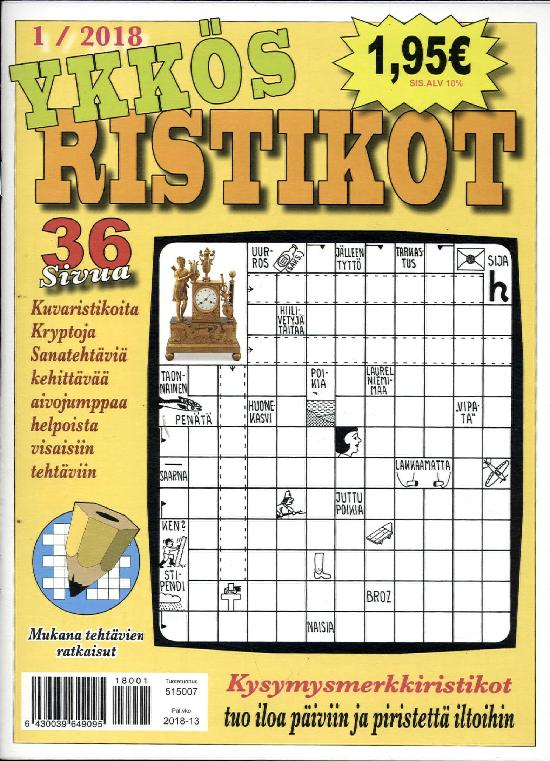 Ykkös Ristikot 1 / 2018