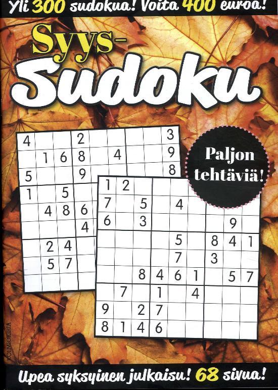 KausiSudoku Syyssudoku 3/2018