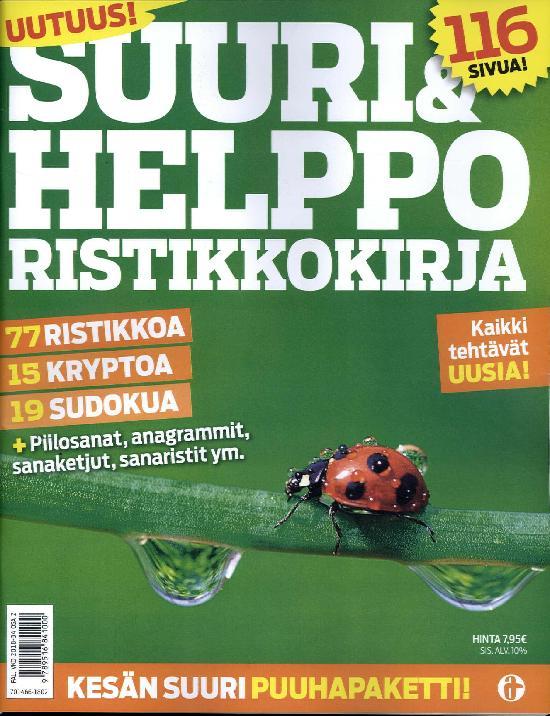 Suuri & Helppo Ristikkokirja 2/2018 77 Ristikkoa, 15 kryptoa & 19 Sudokua