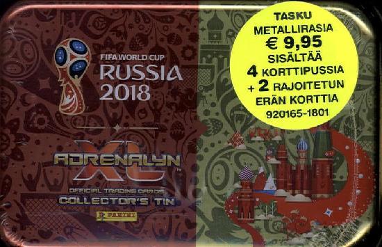 World Cup 2018 Adrenalyn XL tasku metallirasia 1/2018
