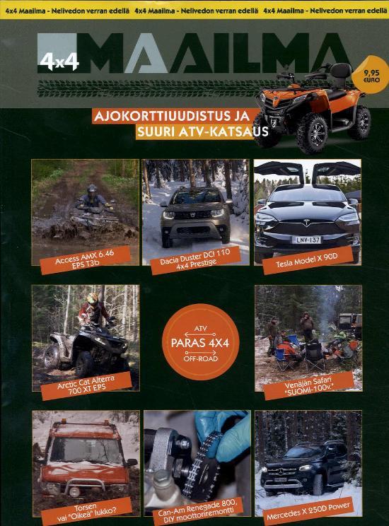 4 X 4 Maailma 1/2018 Ajokorttiuudistus ja suuri ATV- katsaus