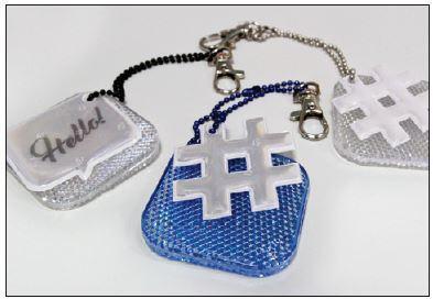 Safety Reflector Double Hashtag -heijastimet 1/2018