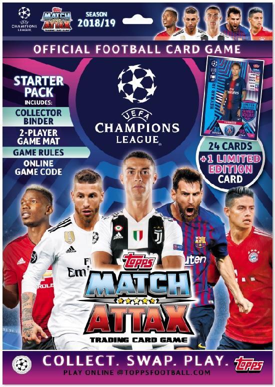 Champions League Match Attax aloituspakkaus (kortit) 1801