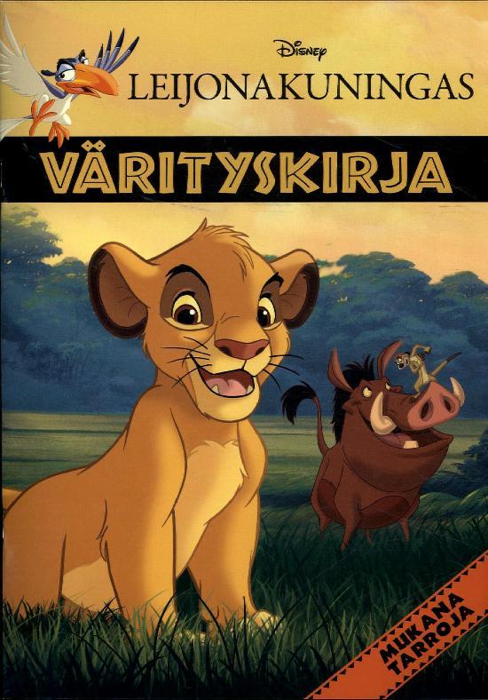 Walt Disney Puuhakirja Leijonakuningas värityskirja 4/2019
