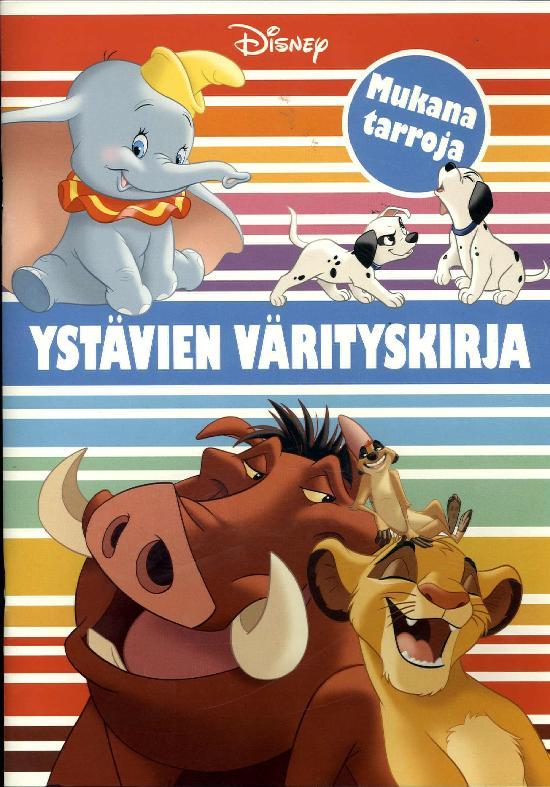 Walt Disney Puuhakirja Ystävien värityskirja 2019