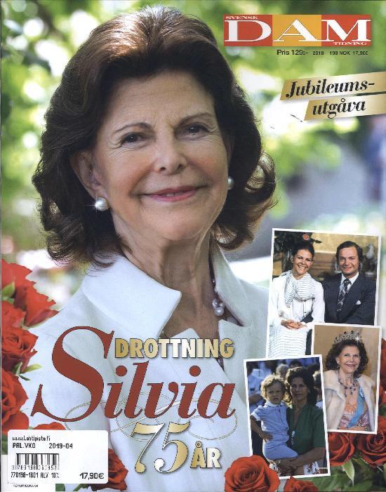 Drottning Silvia 75 år  1/2018