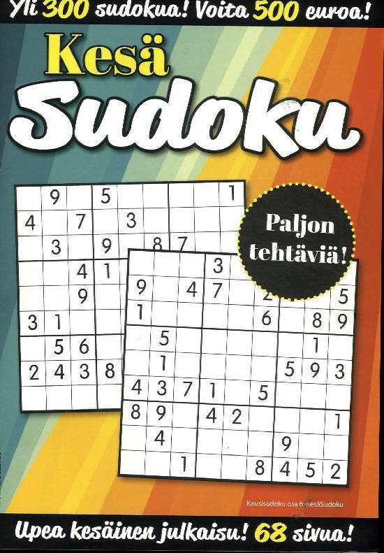 KausiSudoku Kesä Sudoku 2/2019 Yli 300 sudokua!