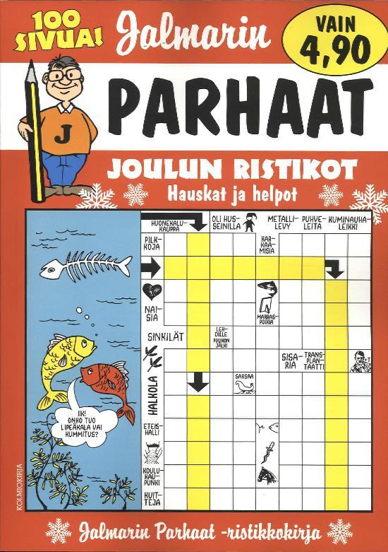 Jalmarin Parhaat Ristikkokirja JOULUN RISTIKOT 4/2019