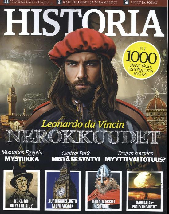 Historia Bookazine Leonardo da Vincin nerokkuudet