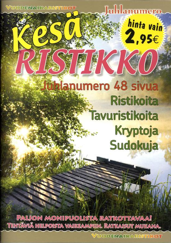 Vuodenaikaristikot -kirja Kesäristikko 2/2019