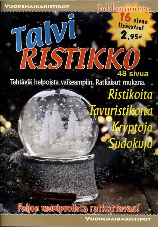 Vuodenaikaristikot -kirja Talviristikko 4/2019