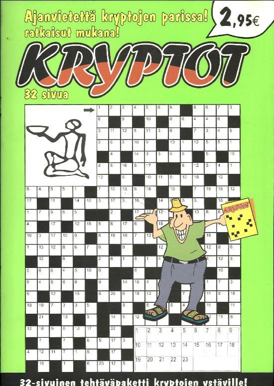 Kryptot Ristikkokirja 2/2019 32- sivuinen tehtäväpaketti kryptojen ystäville!