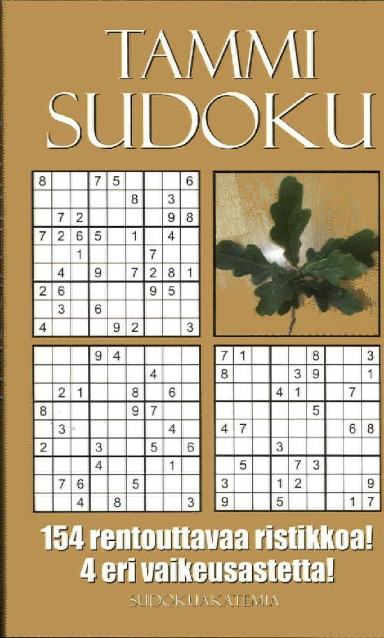 Sudoku Akatemia -pokkari TammiSudoku
