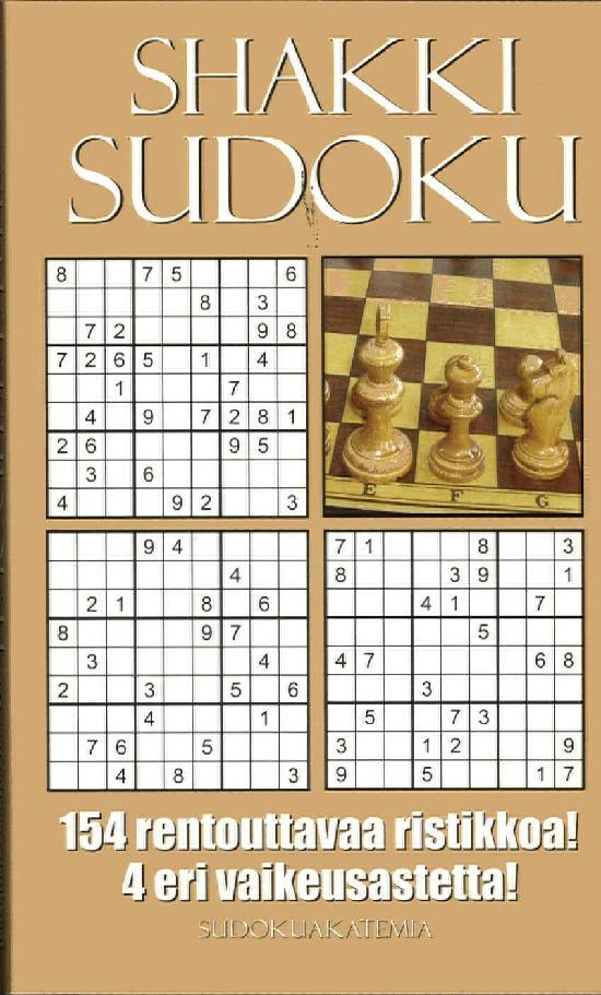 Sudoku Akatemia -pokkari ShakkiSudoku 4/2019