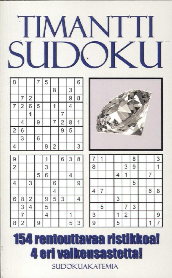 Sudoku Akatemia -pokkari TimanttiSudoku 5/2019