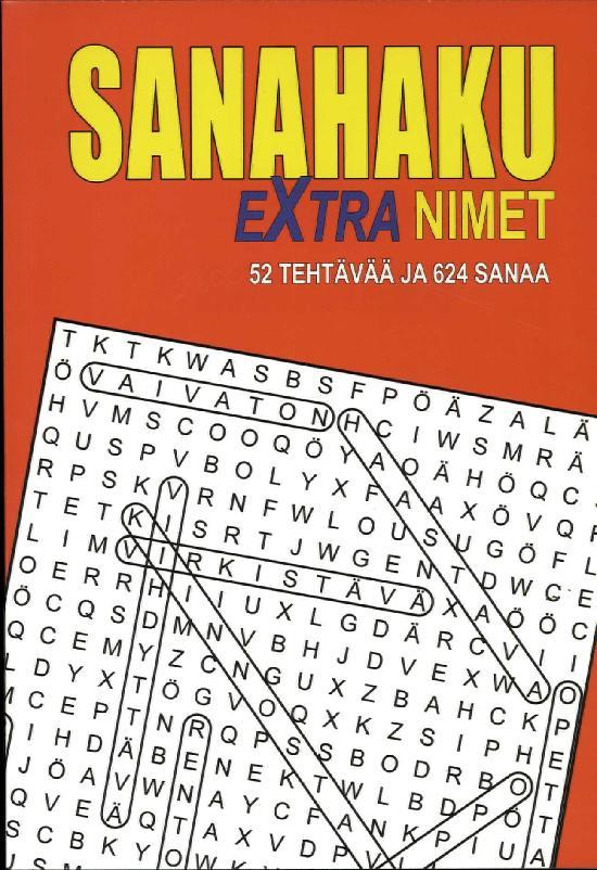 Sanahaku Extra-Nimet 52 Tehtävää ja 624 sanaa