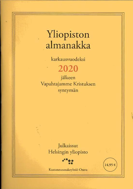 Yliopiston Almanakka (A4) 2020