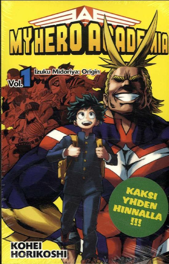 My Hero Academia (Sarjakuvakirja) Vol. 1&2 2019