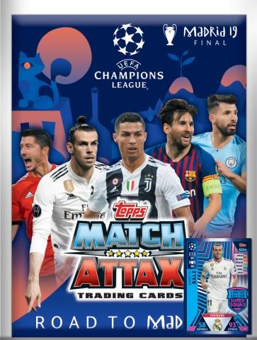 Champions League Match Attax Road to Madrid 19 aloituspakkaus 1901