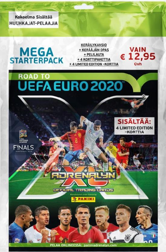 Road to Uefa Euro 2020 -aloituspakkaus (jalkapallokortit) 1/2019