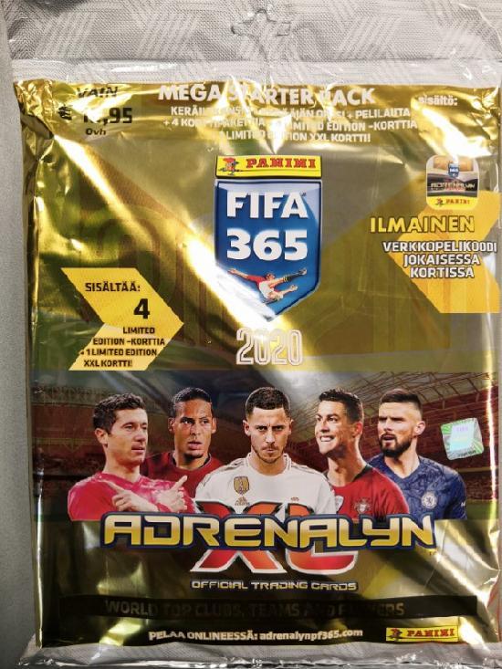 Panini FIFA 365 Adrenalyn XL -aloituspakkaus (jalkapallokortit) 2020