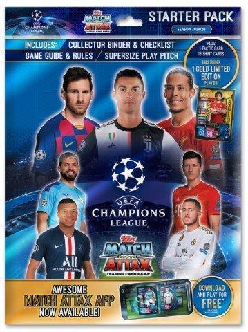 Champions League Match Attax aloituspakkaus (kortit) 1/2019
