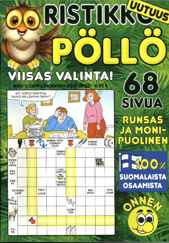 Ristikko Pöllö NRO 1/2019 LOKAKUU-JOULUKUU