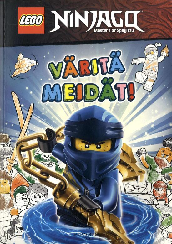 Tarrakirja (Egmont) Lego Ninjago värityskirja tarroilla