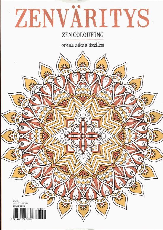 Zen Colouring n41 ZenVäritys Omaa aikaa itsellesi