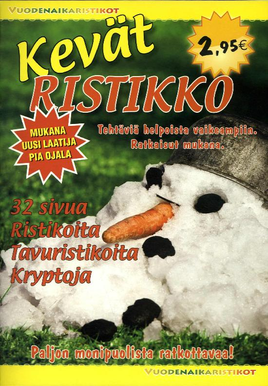 Vuodenaikaristikot -kirja Kevätristikot 1/2020