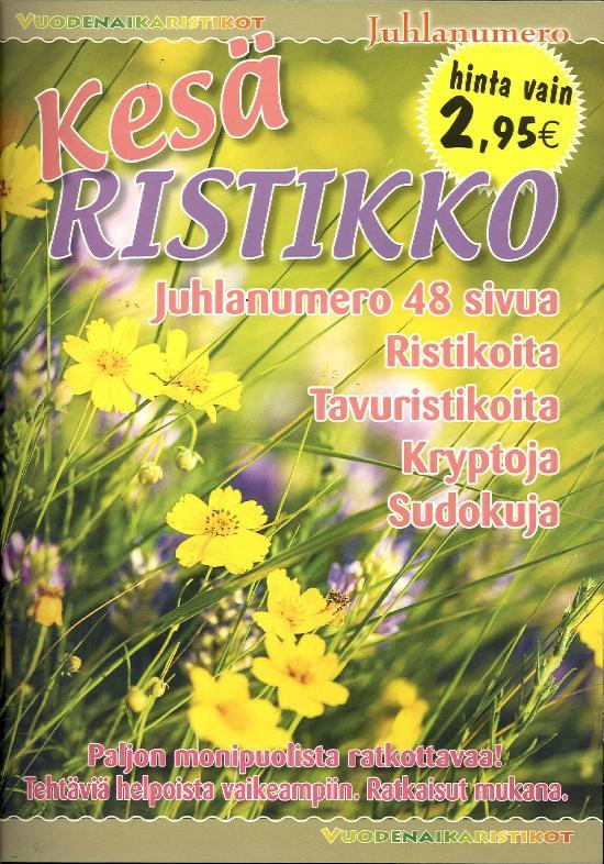 Vuodenaikaristikot -kirja Kesäristikko 2/2020