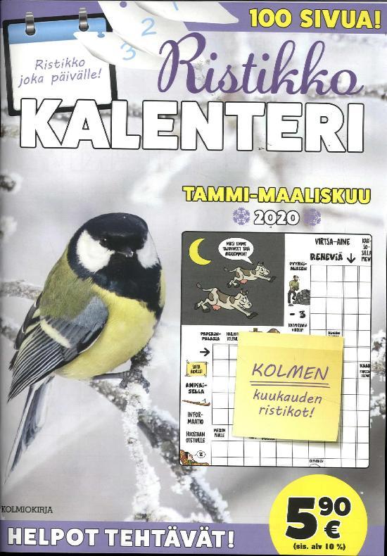 RistikkoKalenteri TAMMI-MAALISKUU 2020