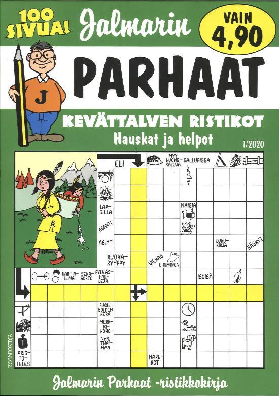 Jalmarin Parhaat Ristikkokirja 1/2020 Kevättalven ristikot