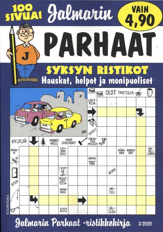 Jalmarin Parhaat Ristikkokirja 3/2020 Syksyn ristikot