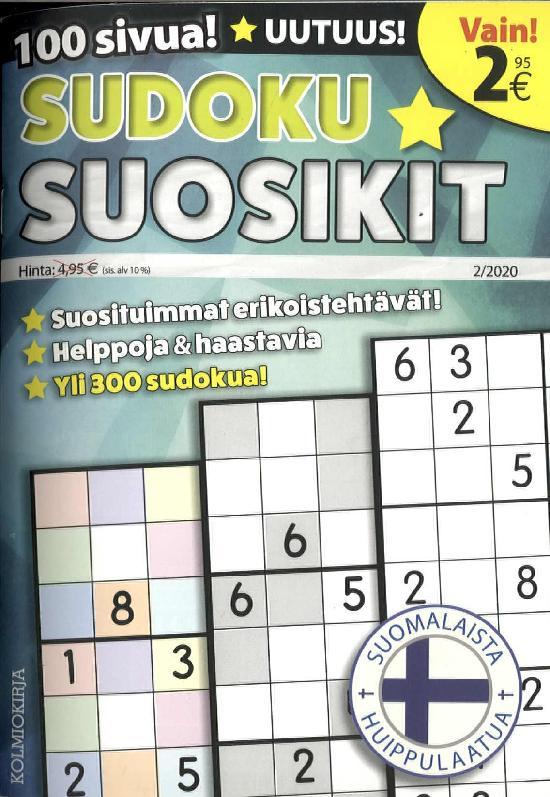 Sudoku-Suosikit 2002