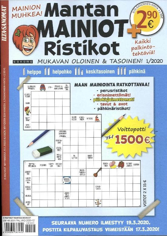 IS Ristikot Mantan Mainiot Ristikot 1/2020