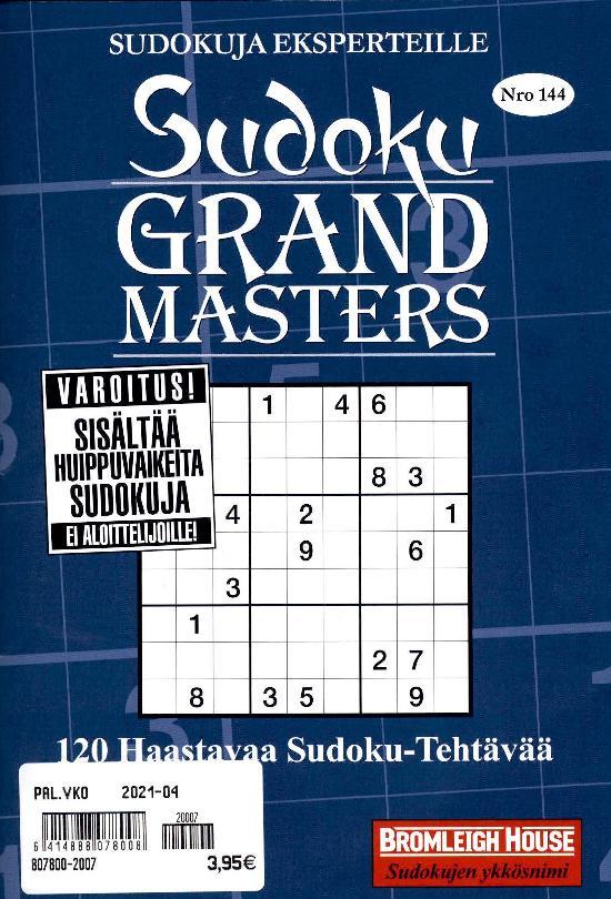 Sudoku Grand Masters Nro 144 2020