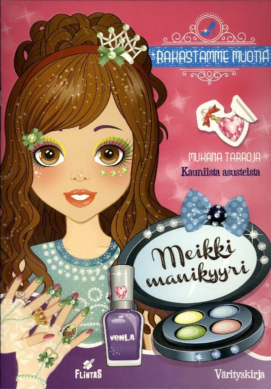 Rakastamme Muotia Tarra-puuhakirja 1 2020 Meikki, manikyyri