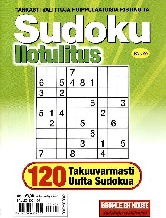 Sudoku Ilotulitus Nro 80 2020