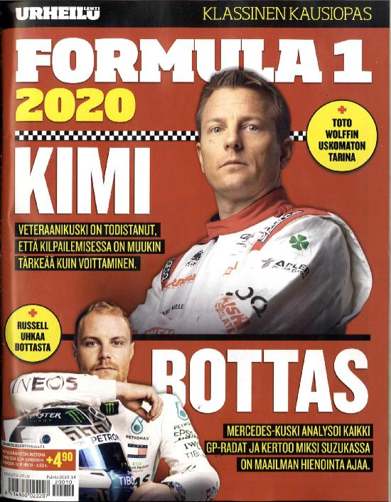 Urheilulehti Ekstra Formula 1 2020 Klassinen kausiopas