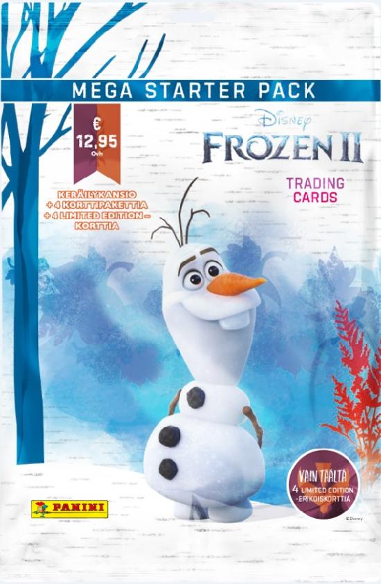 Disney Frozen 2 -aloituspakkaus (kortit) 1/2020 Mega starter pack TRADING CARDS