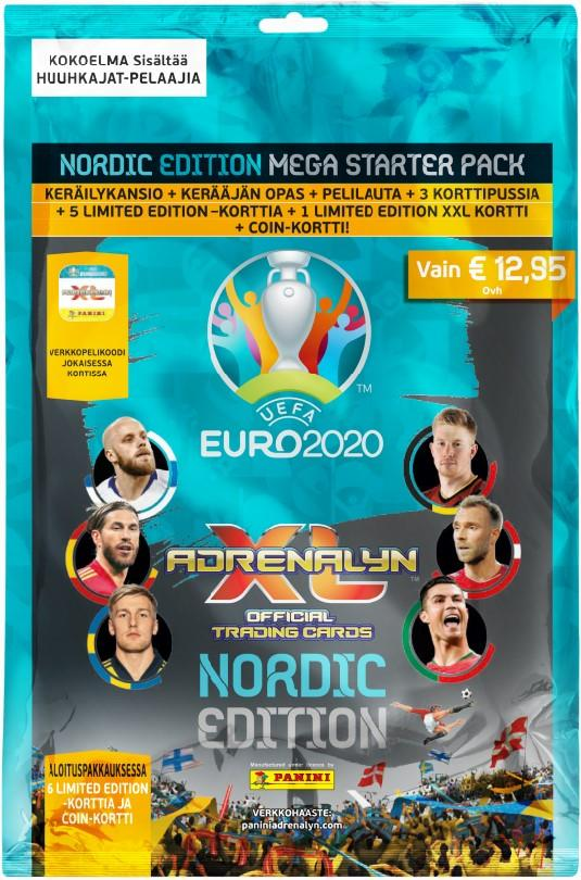 Euro 2020 Adrenalyn XL -aloituspakkaus (kortit) 1/2020 Official Trading cards NORDIC EDITION