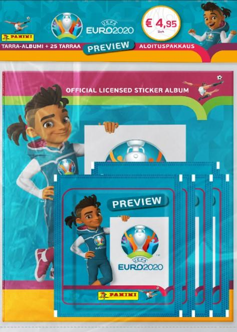 Euro 2020 Preview -aloituspakkaus (tarrat) 1/2020 Official licensed sticker album