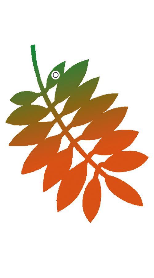 Valola Designheijastin -Pihlajanlehti oranssi 2020 2001
