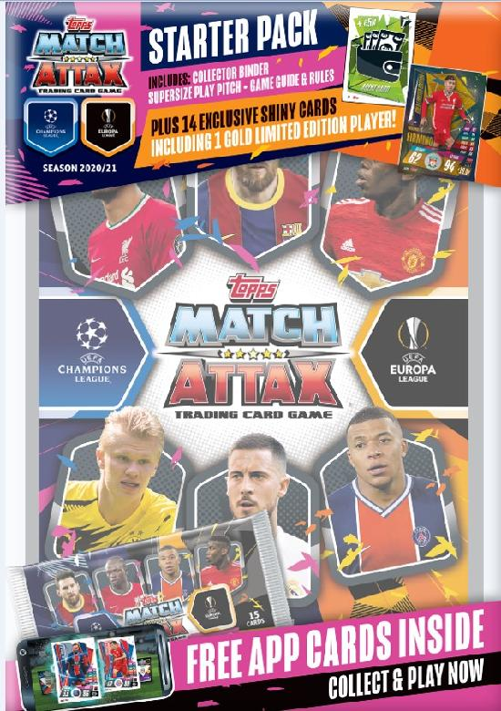 Champions League Match Attax aloituspakkaus (kortit) SEASON 2020/21 STARTER PACK