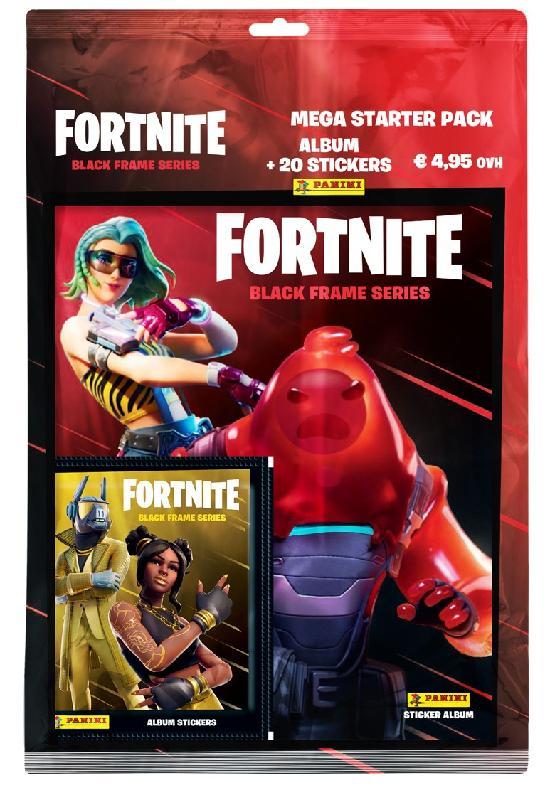 Fortnite 2 -aloituspakkaus (tarrat) 1/2020 Mega Starter Pack Album + 20 stickers