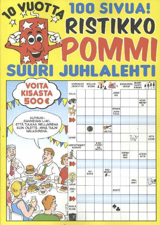 Ristikko Pommi 10 Vuotta Juhlalehti 2020 100 sivuinen juhlajulkaisu