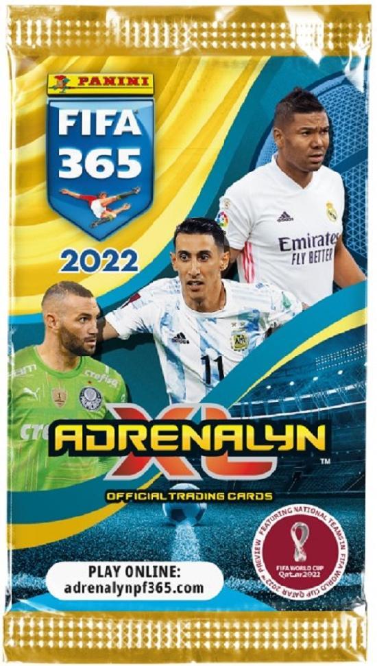 Panini FIFA 365 Adrenalyn XL -jalkapallokortit 2022 Official trading cards